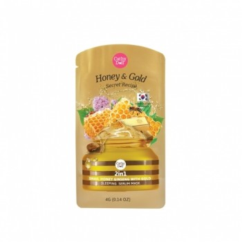 Mặt nạ ngủ vàng 2in1 Snail Honey Ginseng with Gold Sleeping Serum Mask 4g Cathy Doll Secret Recipe