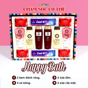 Happy Bath Gift Set (Combo12 Món)
