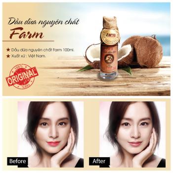 Dầu dừa nguyên chất Farm 100ml