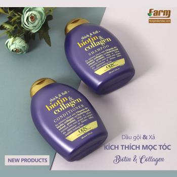 Bộ dầu gội và xả kích thích mọc tóc Biotin & Collagen