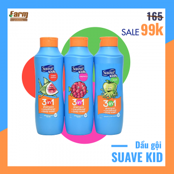 Sữa tắm & gội baby SUAVE KIDS