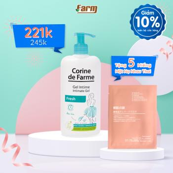 Gel hữu cơ vệ sinh vùng kín, khử mùi kháng viêm  Corine De Farme