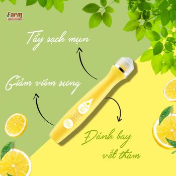 Cây lăn trị thâm mụn Baby Bright Lemon & VitC Whitening Dark Spot Roller Serum 15ml