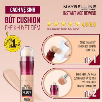 Bút Cushion Che Khuyết Điểm Instant Age Rewind Maybelline