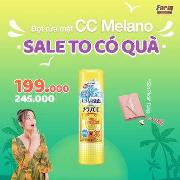 Bọt rửa mặt trắng da ngừa mụn CC Melano