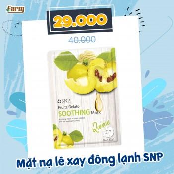 Mặt Nạ Tinh Chất Đông Lạnh SNP Fruits Gelato Mask 25ml