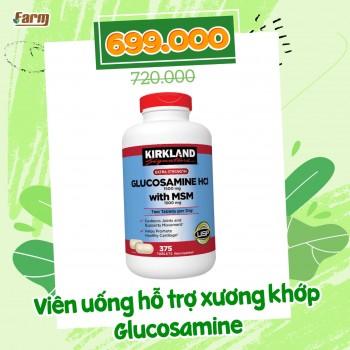 Viên uống hỗ trợ xương khớp Kirkland Glucosamine HCL 1500mg with MSM