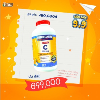 Kẹo Ngậm Bổ Sung Vitamin C Kirkland 500mg