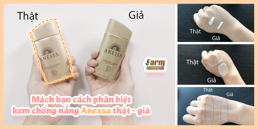 chống nắng anessa thật giả