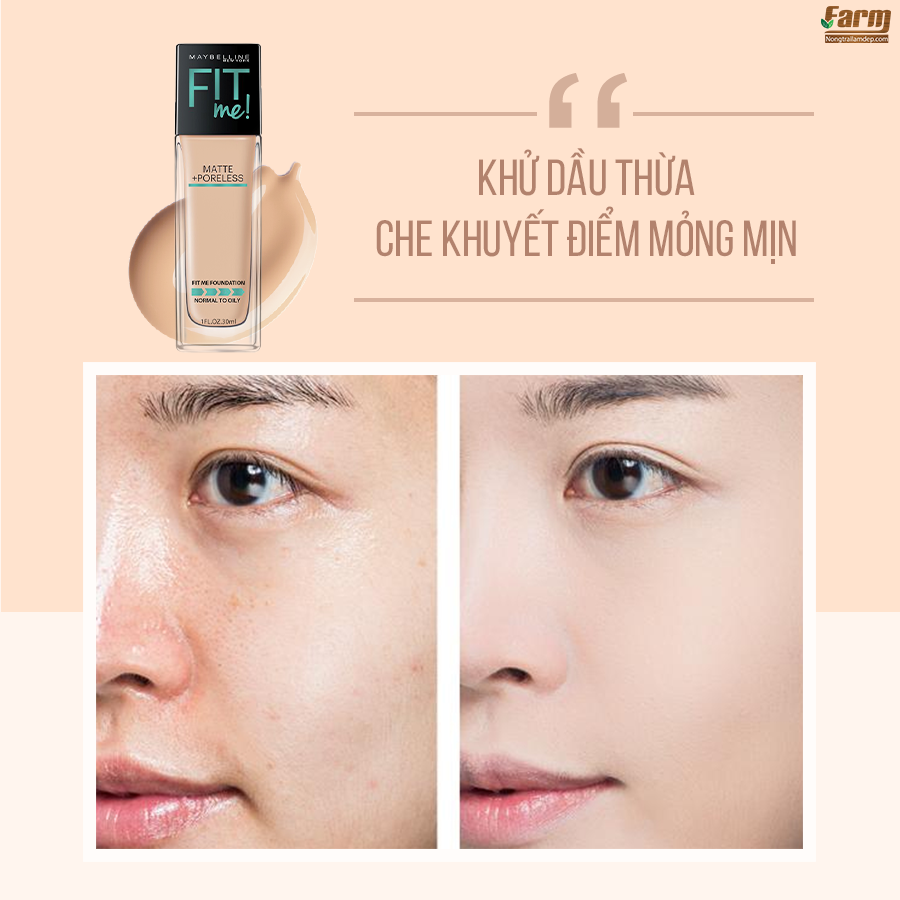 Kem Nền Fit Me Foundation 10